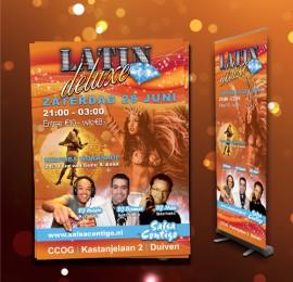 Flyer, poster en roll-up banner voor Salsa Contigo
