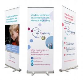 Roll-up banners voor De Zorgkring