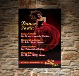 Flyer en Poster voor Salsa Contigo