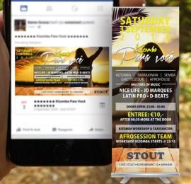 Facebook event en Roll-up banner voor Kizomba Para Vocé